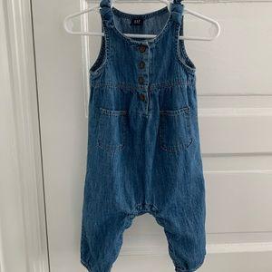 Baby Gap chambray overalls